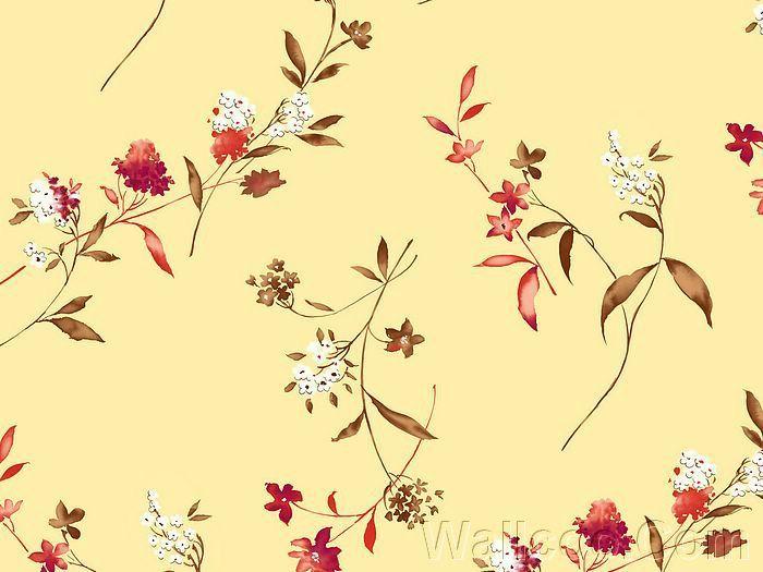 Elegant Floral Pattern Design - Colors in Japanese Style ...