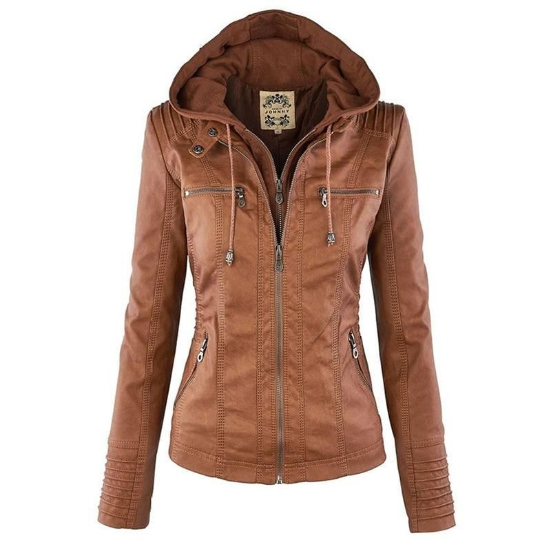 Jacket Agnese Frauen Leather In 2019Lederjacke Hooded dEoQexrCWB