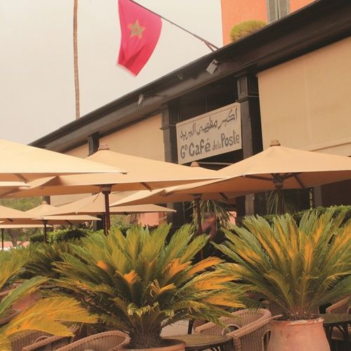 Cafe Near Jardin Majorelle: Grand Cafe De La Poste -Marrakech Morocco