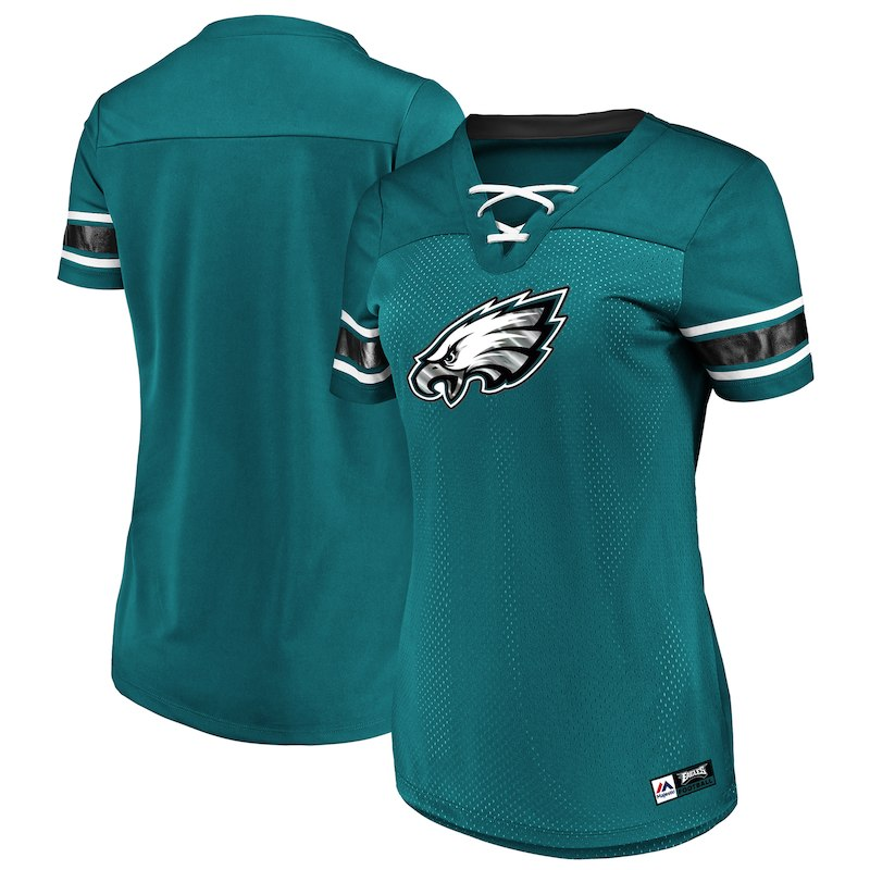 Philadelphia Eagles Football Jersey Shirt Ladies V Neck Superbowl 52 Champions