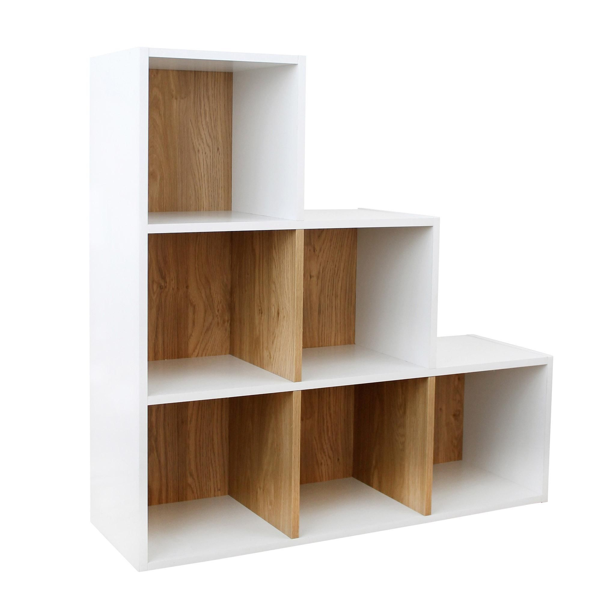 Dunelm Modern White Rome Modular 6 Step Cube Shelving Unit In 2020 Cube Shelving Unit Shelves Cheap Shelving Units