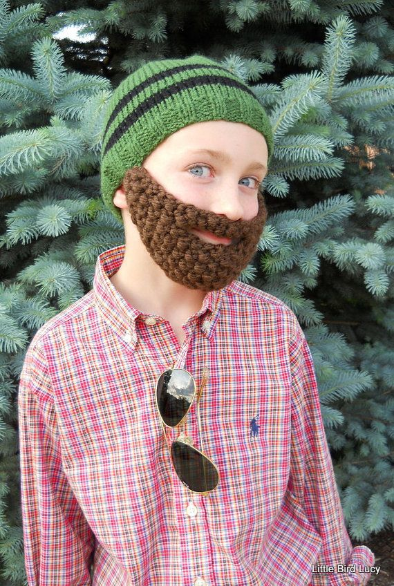 413b263a7be Beard Hat Knit Boys   Mens Cap Knitted Beanie by LittleBirdLucy