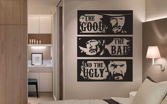 Retro the good the bad and the ugly clint eastwood movie wall art sticker home decor living room bedroom