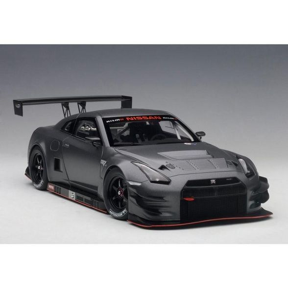 Nissan Gt R Nismo Gt3 Dark Matt Gray 1 18 Model Car By Autoart Target Car Model Nissan Gt R Nissan Gt