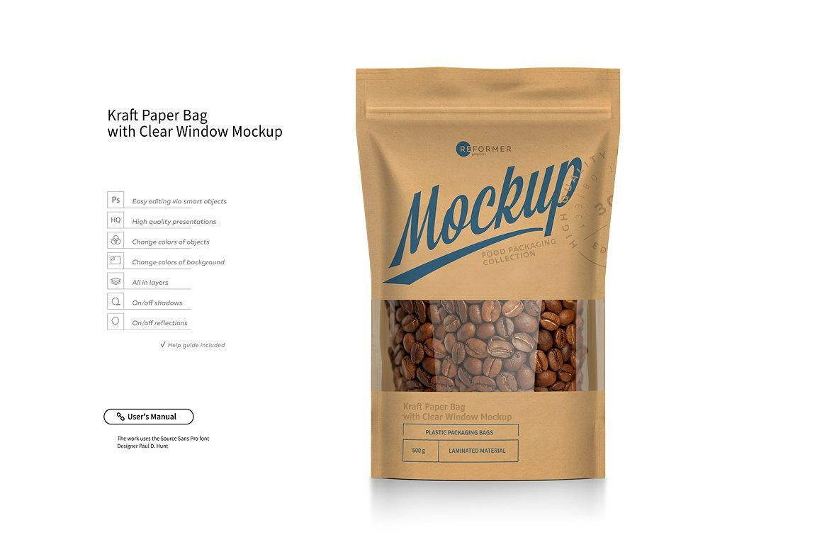 Download Stand Up Pouch Mockup Set 40 Off Pouch Packaging Paper Bag Kraft Paper