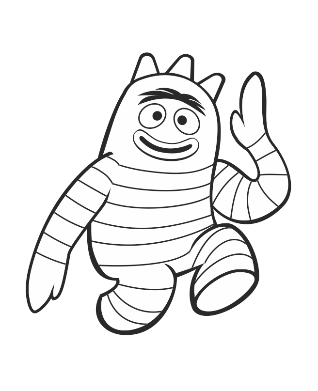 Brobee Coloring Sheet Freeprintable Yogabbagabba Printable Christmas Coloring Pages Monster Coloring Pages Disney Princess Coloring Pages