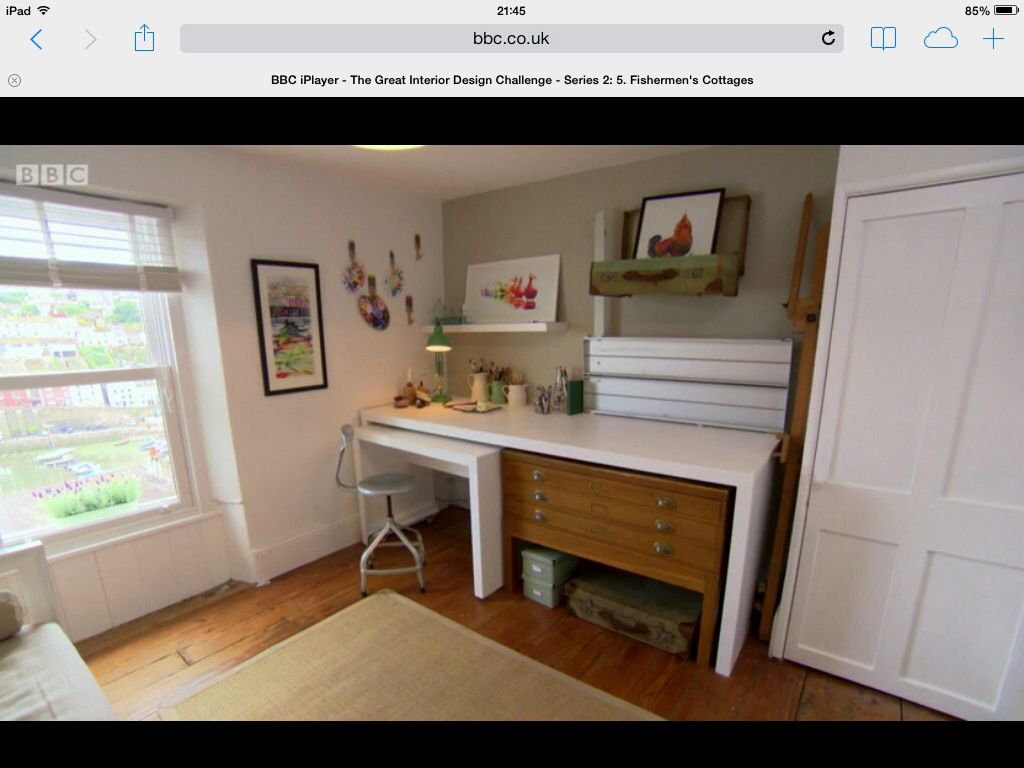 Home interior design picture_16 - Art Studio Office Desk Made By Me On The Great Interior Design