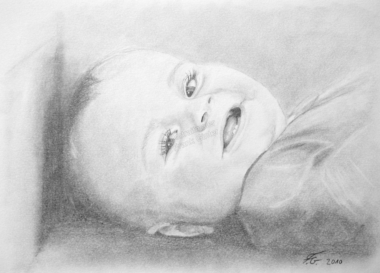 Bleistiftzeichnungen Portraitzeichnung Baby Portrait Zeichnen Lassen