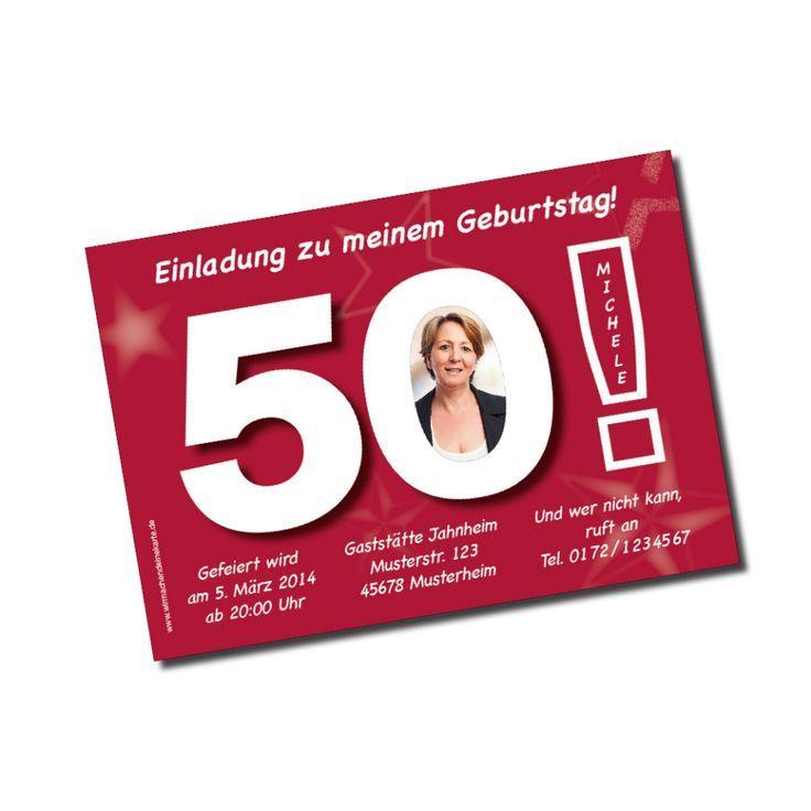 50. geburtstag: 50. geburtstag einladungskarten