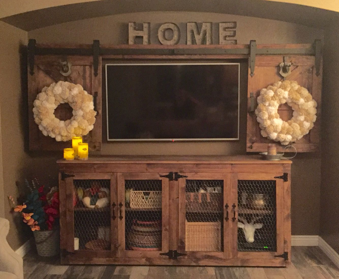 on and for all delivery cabinet barns doors door sliding with barn ideas cover ready console tv corner
