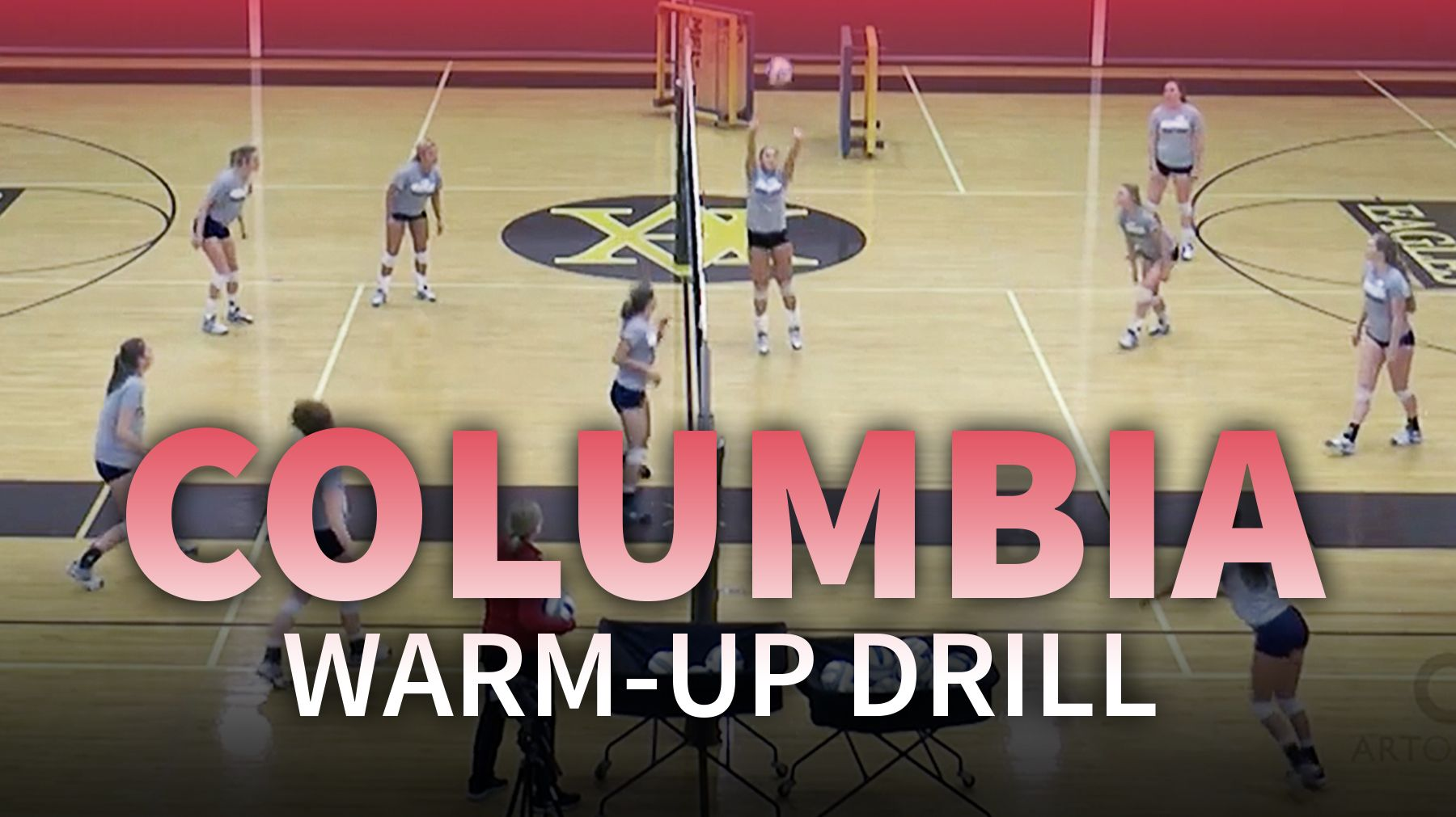 Columbia Warm Up Drill For Better Ball Control Coaching Volleyball Volleyball Drills Volleyball Workouts
