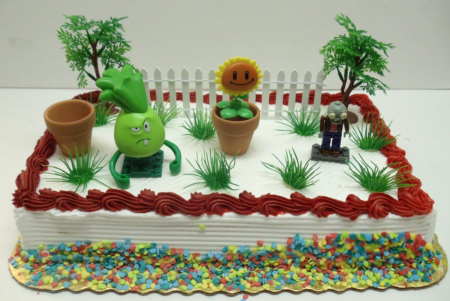 Amazoncom Plants vs Zombies Birthday Cake Topper Set Featuring 3