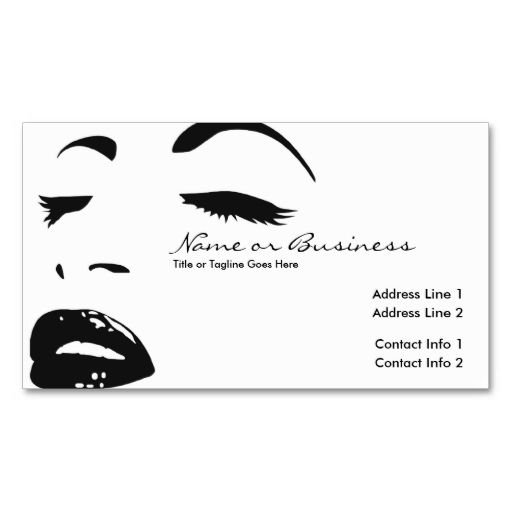 beauty silhouette business card template Make your own business - contact info template