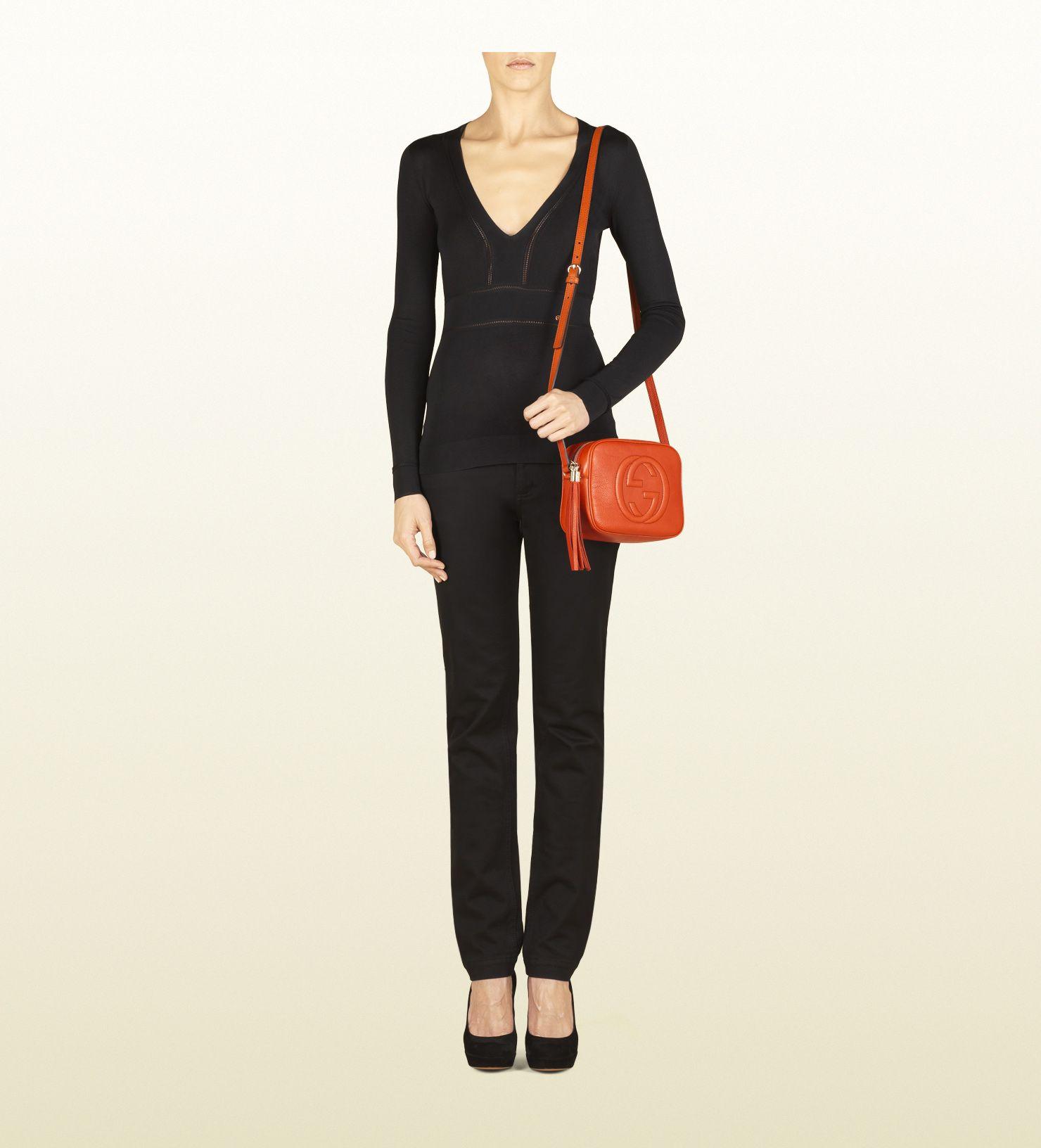 54d59ea0e Gucci Soho Disco Bag - Dark Orange | Handbag love... | Gucci online ...