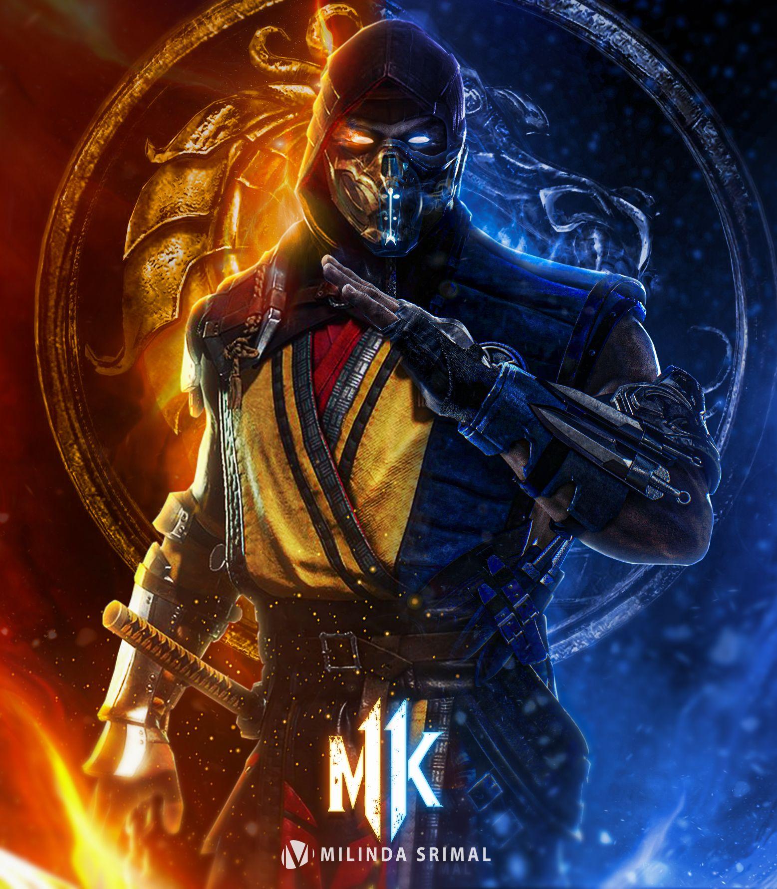 Scorpion Vs Sub Zero Mortal Kombat Movie Em 2020 Personagens