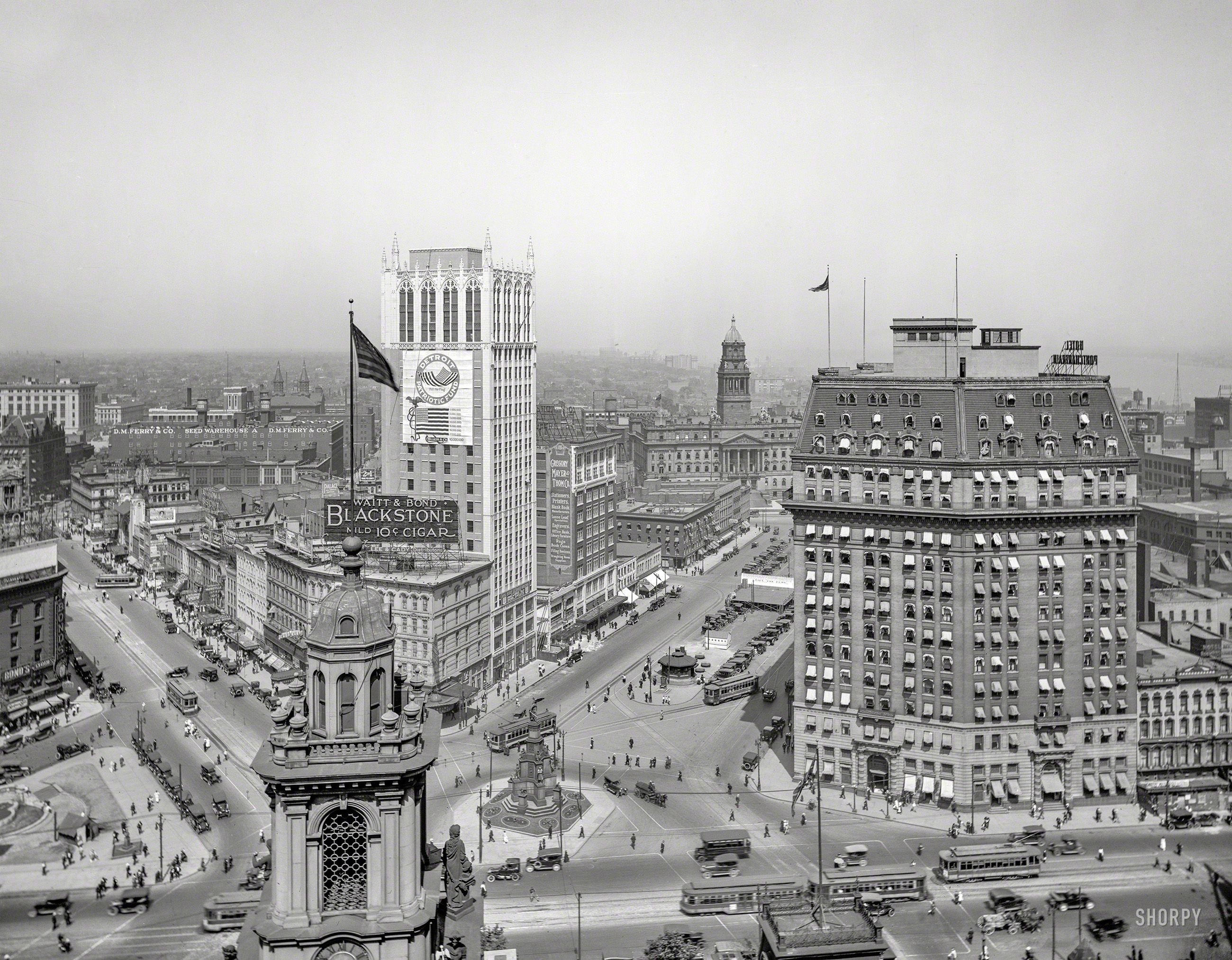 Circa 1918 The Heart Of Detroit An Aerial View Of The Campus