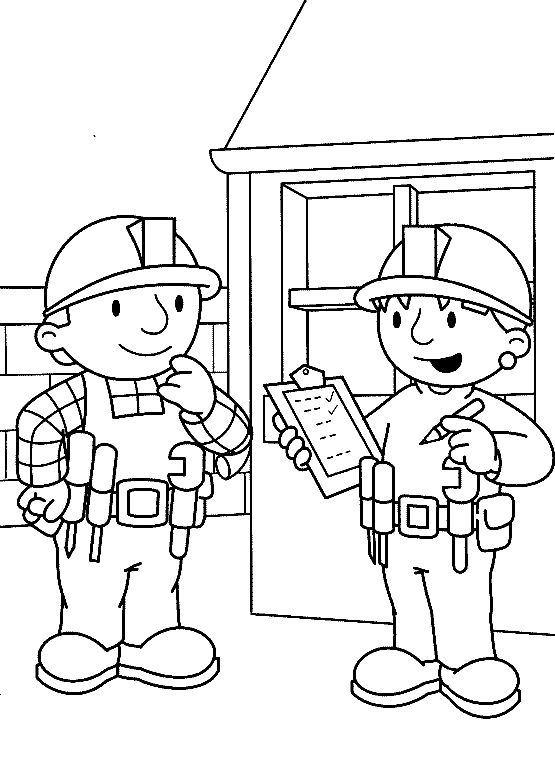 Wendy Noted The Report From Bob Coloring Pages - Bob The Builder ...