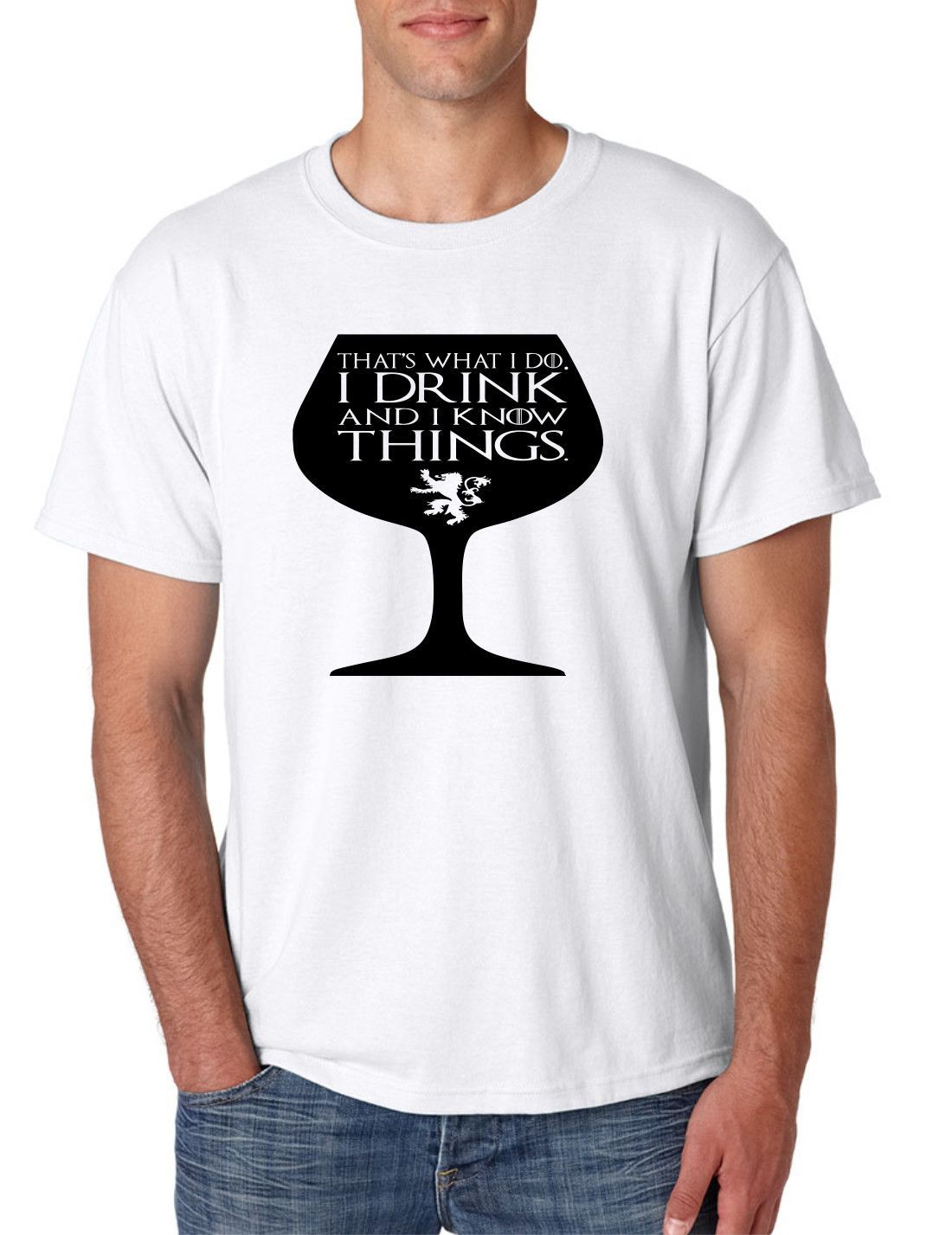 T-Shirts Thats what I do I drink Game of Thrones inspired Tyrion t shirt Kleidung & Accessoires