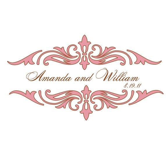 Wedding logo Art DecoMonogram Ideas Pinterest Wedding logos