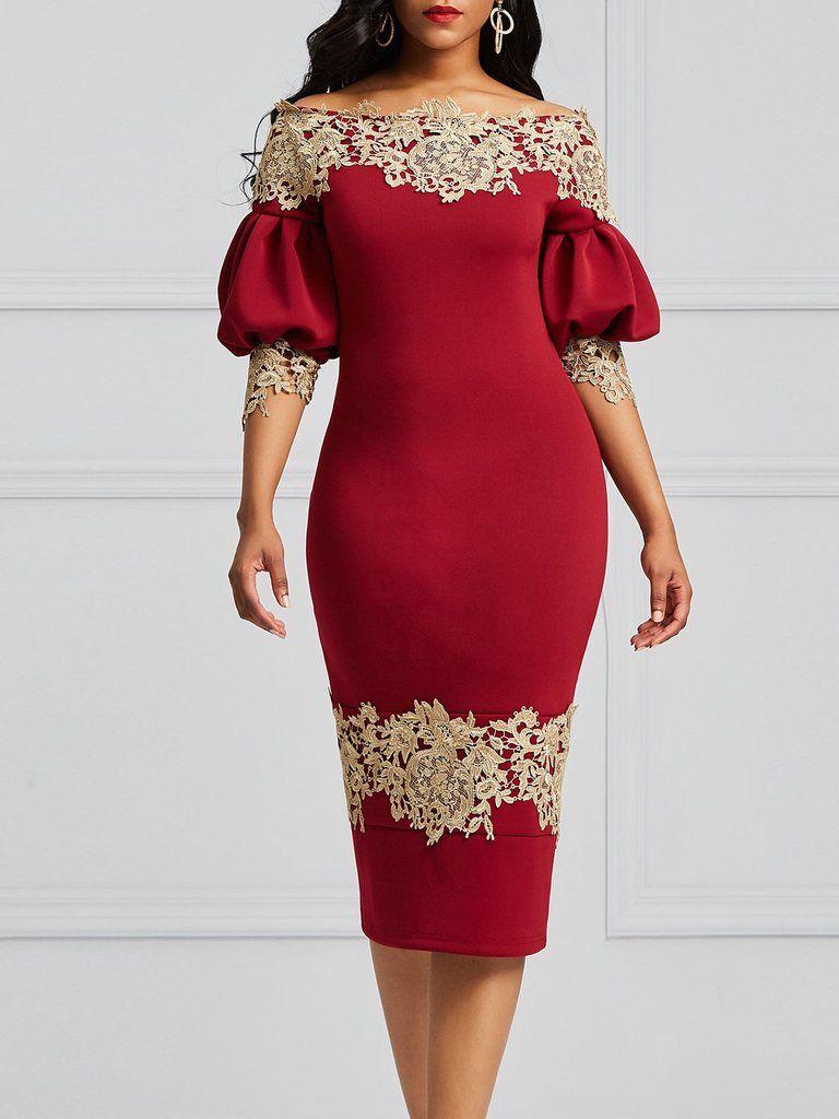 55b94cb40ec5 Silhouette: Bodycon Dress Length: Mid-Calf Sleeve Length: Long Sleeve Sleeve  Type
