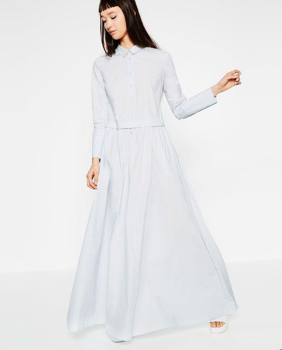 Robe longue bleu marine zara