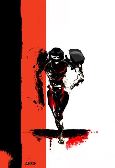 Metroid black & red