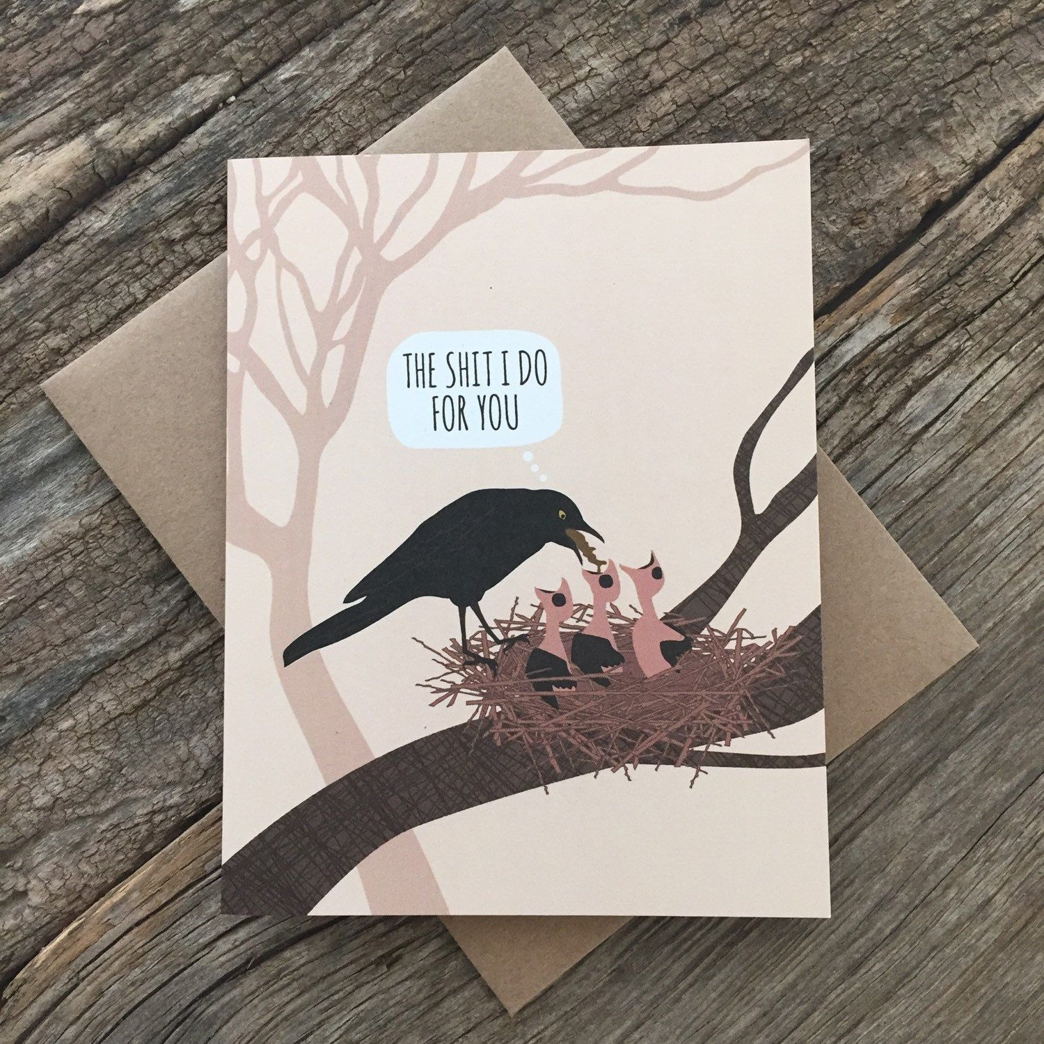 Funny birthday card for mom bird puke mature funny birthday inside greeting thanks for everything mom today is the last day to order with a priority mail option domestic kristyandbryce Choice Image