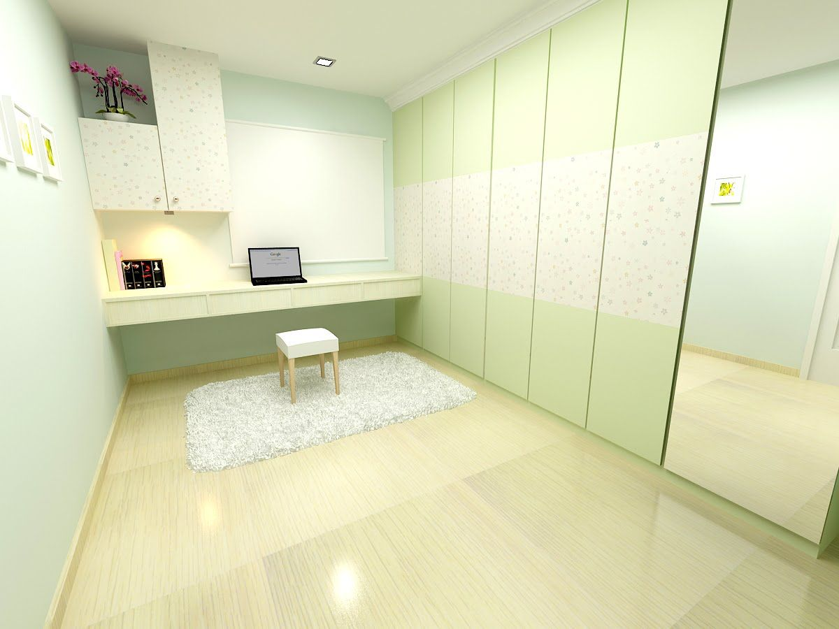 This Rendering Was Made For A 3 Room HDB Flat. The Theme Used Is Country  With Some Modern Elements. This Is More Of A Feminine Design, Wi. Part 86