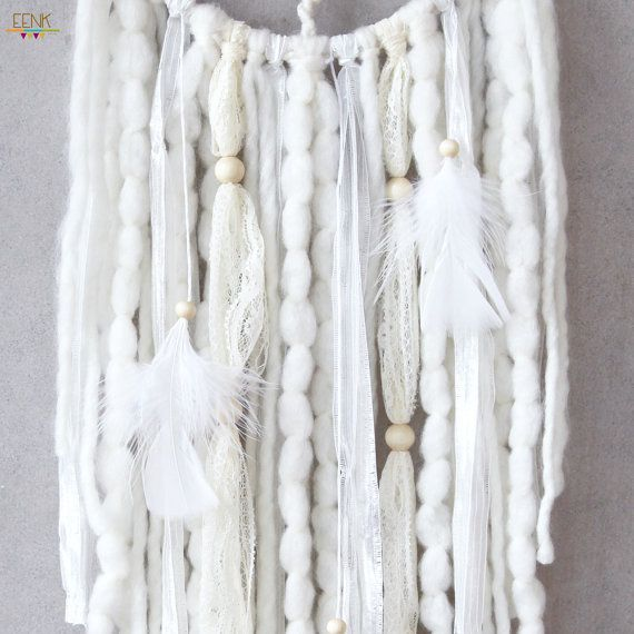 The Snow Owl Native Style Handwoven Dreamcatcher by eenk on Etsy