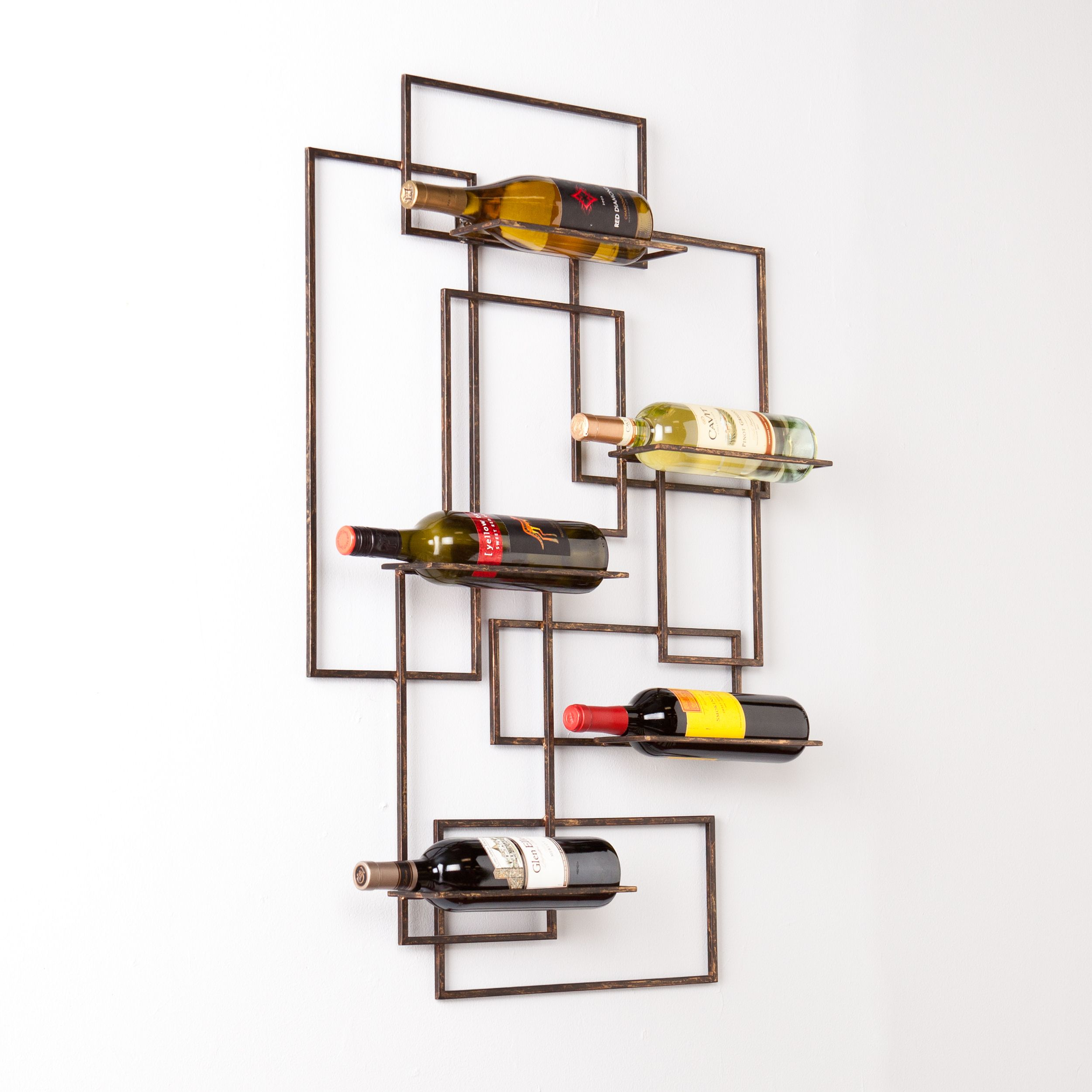 This upton home wine storage wall sculpture features a modern