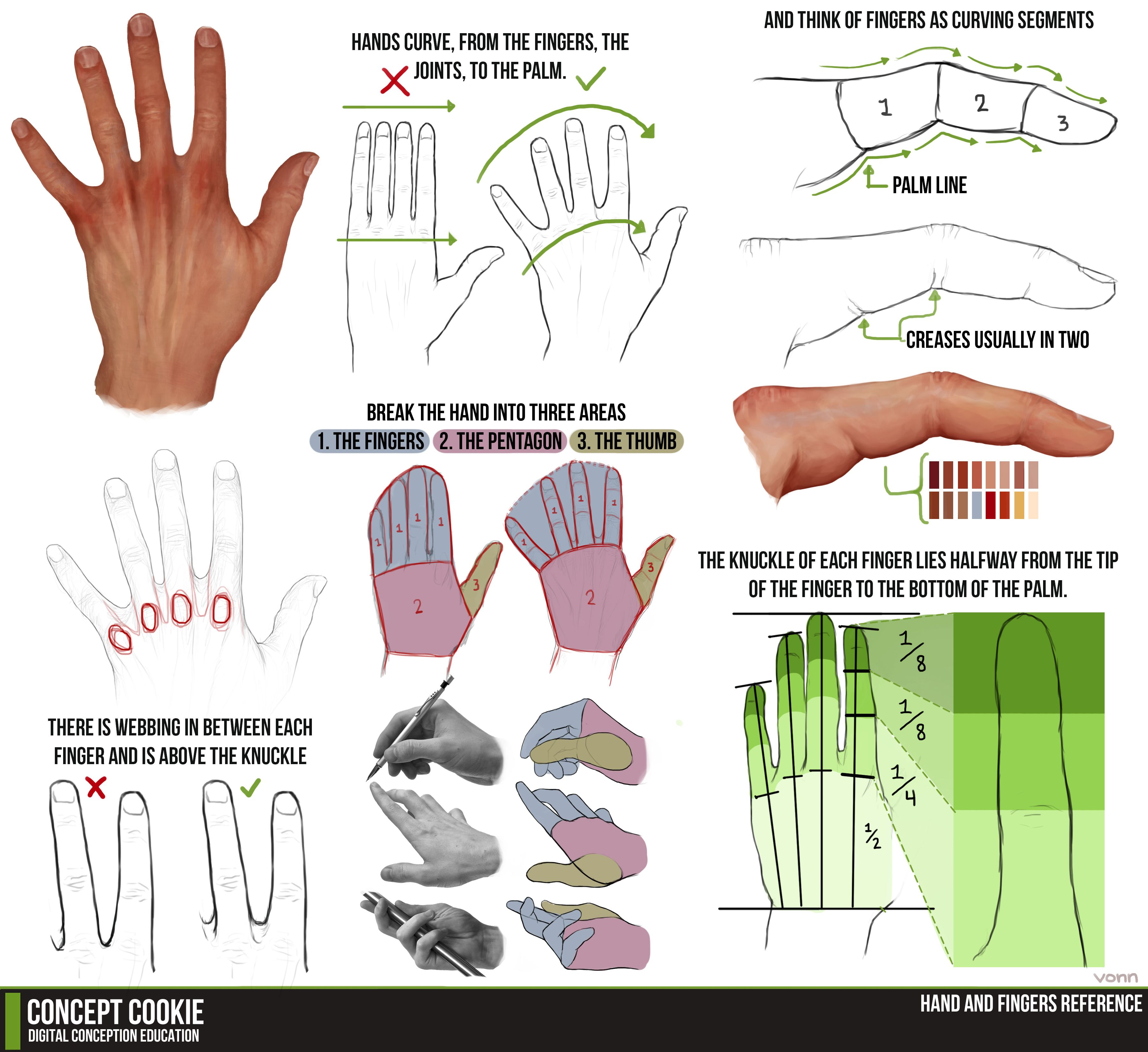 Hand and fingers tutorial by conceptcookie