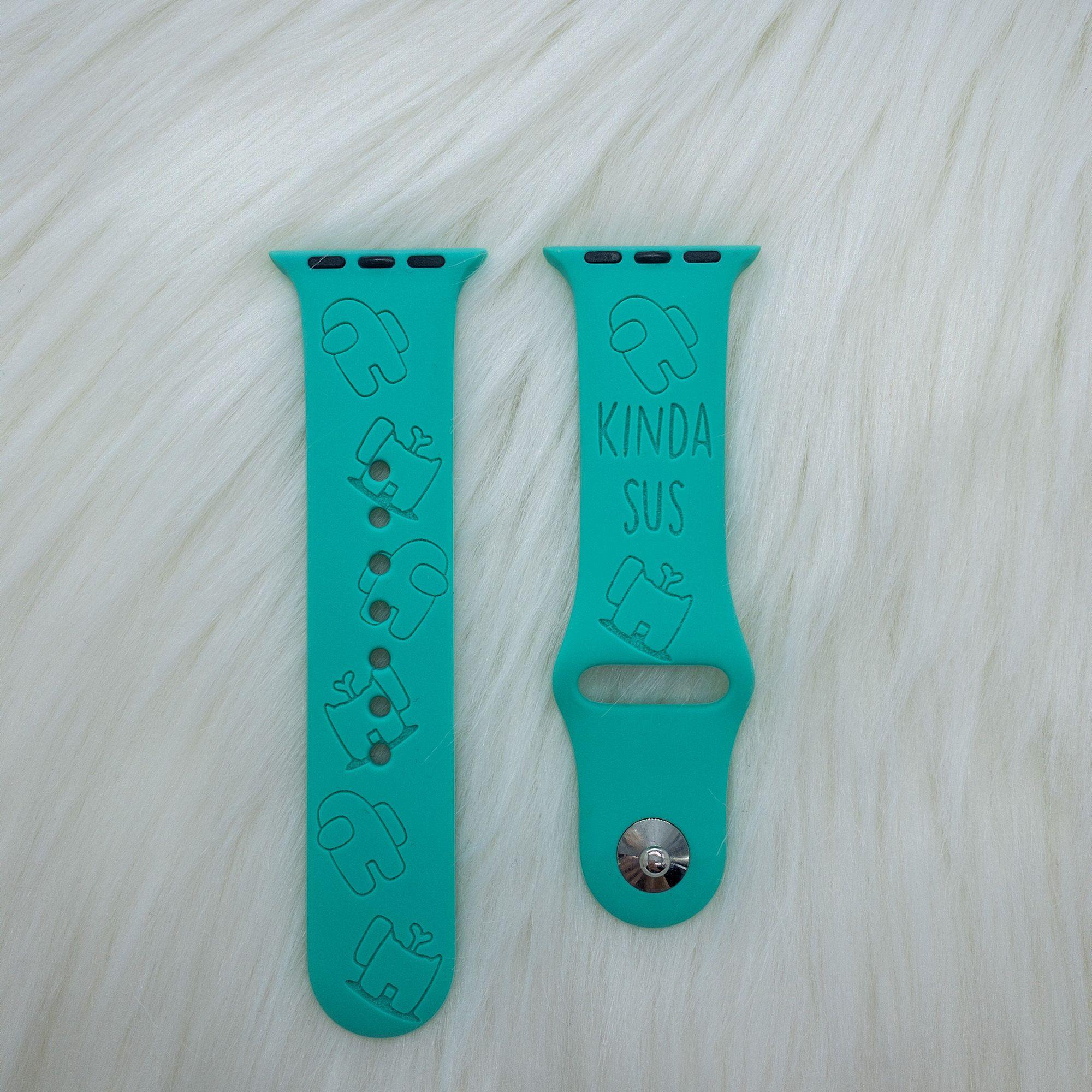 Among Us Crewmate Apple Watch Band Kinda Sus Apple Watch Band Engraved Apple Watch Band Personaliz Custom Apple Watch Bands Watch Bands Apple Watch Bands