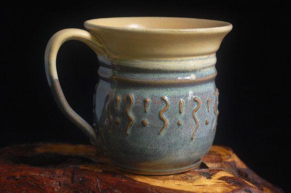 Handmade Coffee Tea Mug flared lip breakfast by SovaArtisanGoods