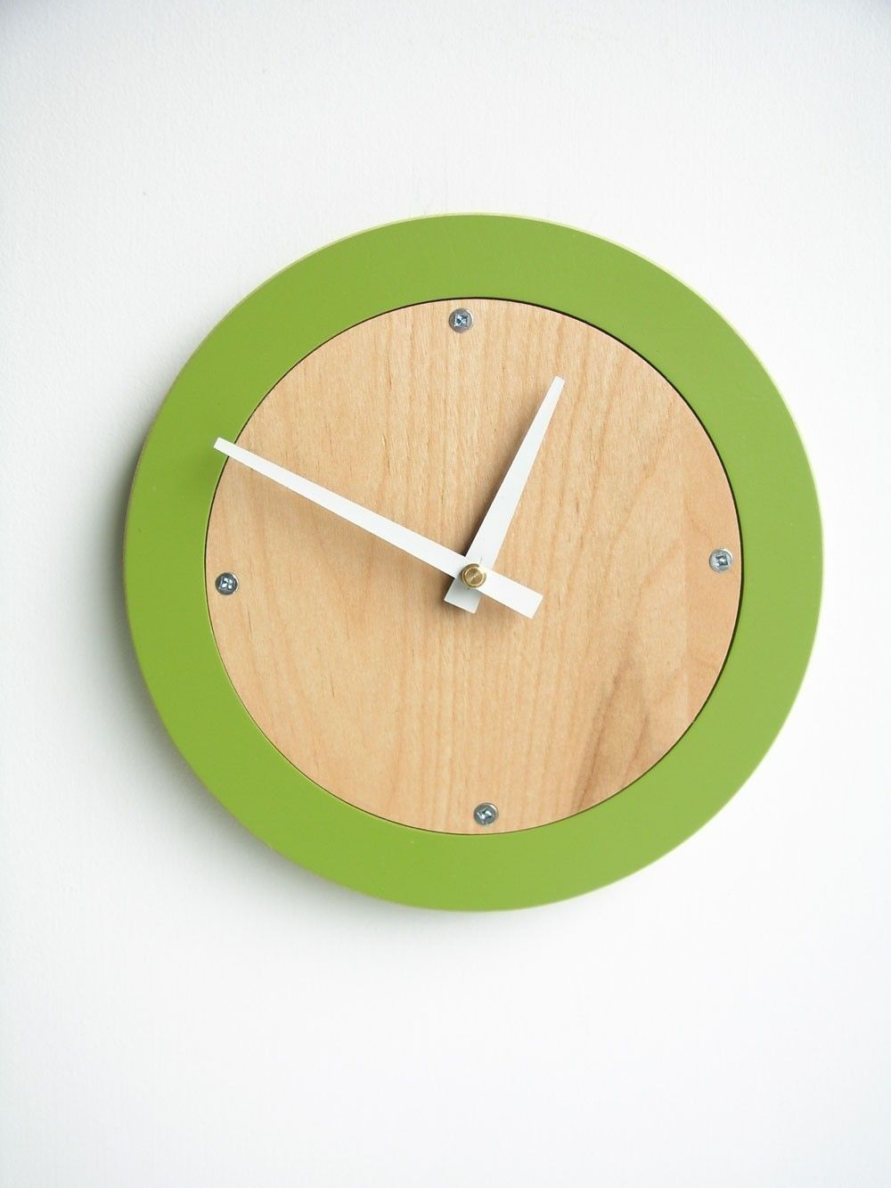 apple green modern wall clock. $42.00, via Etsy. | Products I Love ...