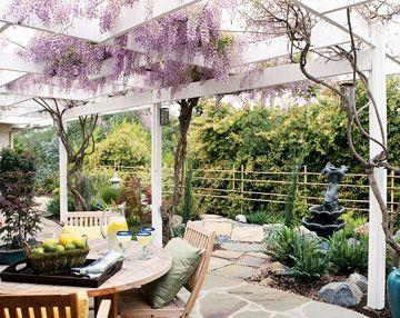 pergola ideas joys of gardening pinterest decoration jardin vend e et terrasses. Black Bedroom Furniture Sets. Home Design Ideas