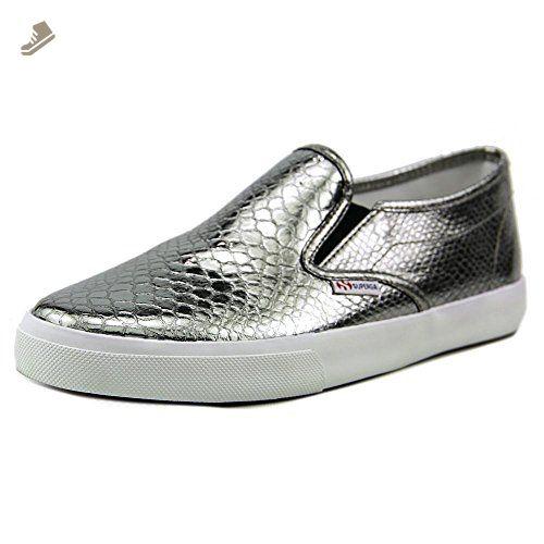 Superga Women's 2311 Metallicsynthsnakew Fashion Sneaker, Graphite, 39.5  EU/8.5 M US -