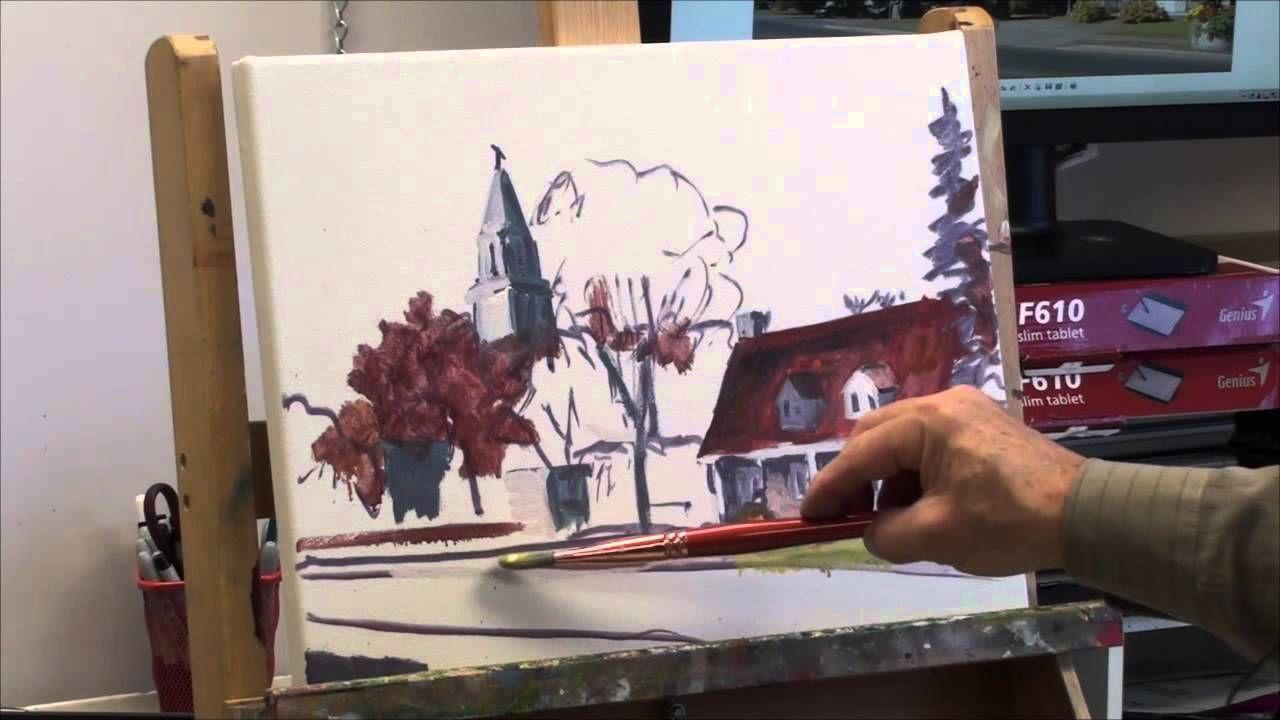 Demonstration De Peinture 1ere Partie Realisation D Un Paysage