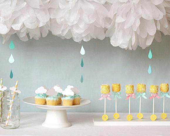 12 Stunning Baby Shower Themes You ShouldCopy - I LOVE these ideas - nesting, rainy, circus, stars, mad hatter, vintage children's books, and more