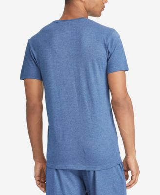 c0b3976618 Polo Ralph Lauren Men's Supreme Comfort Sleep T-Shirt - Derby Blue Heather  XL
