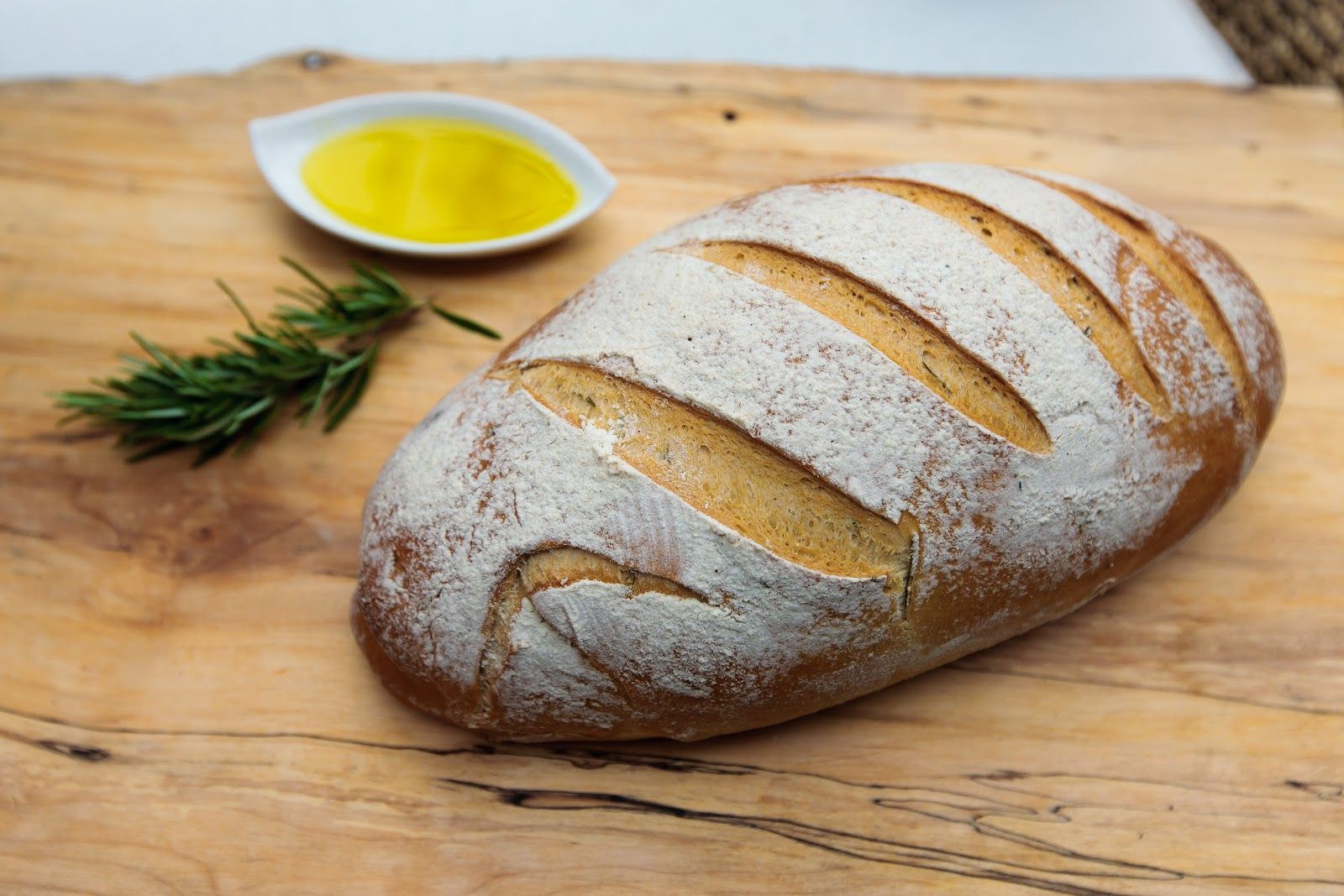 Rustic rosemary olive oil bread