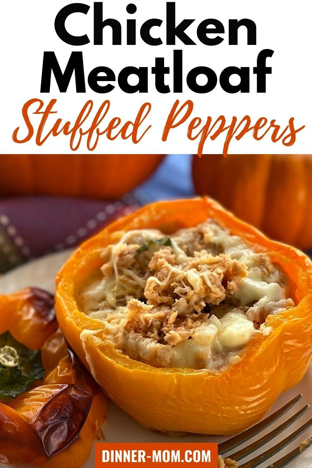 Healthy Stuffed Peppers With Chicken Meatloaf In 2021 Stuffed Peppers Stuffed Peppers Healthy Low Carb Chicken Casserole