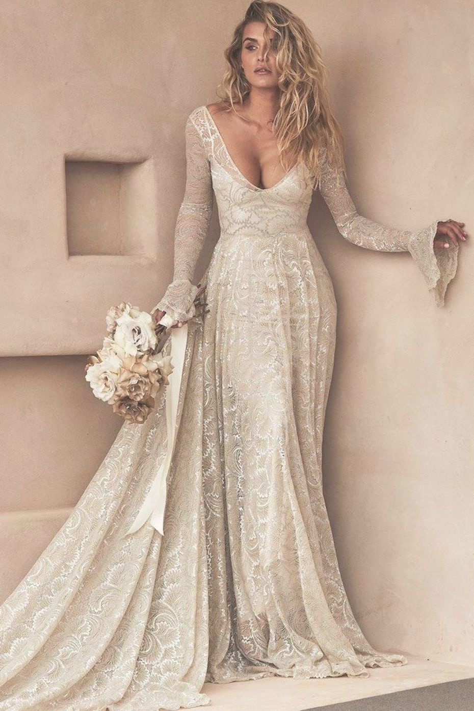 Pin by Vesta Cole on wedding lace  Trendy wedding dresses, Chic