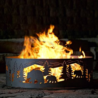 P D Metal Works Bcr004 Bear Cubs Ring Fire Pit