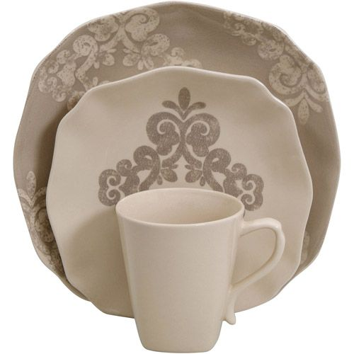 Nice Better Homes And Gardens Antique Scroll 16 Piece Dinnerware Set $39.96.  Very Shabby Chic Home Design Ideas