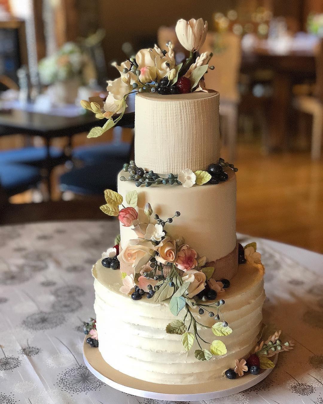 Rustic Elegant Wedding Cake, Pink Cake Box, #rusticwedding