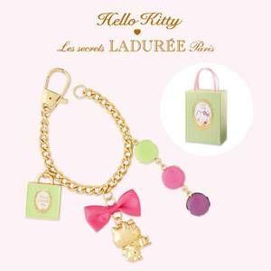 LADUREE Paris x Hello Kitty Bag Charm Key Chain in Gift Box FreeShipping  Rare 8a281e818a3fe