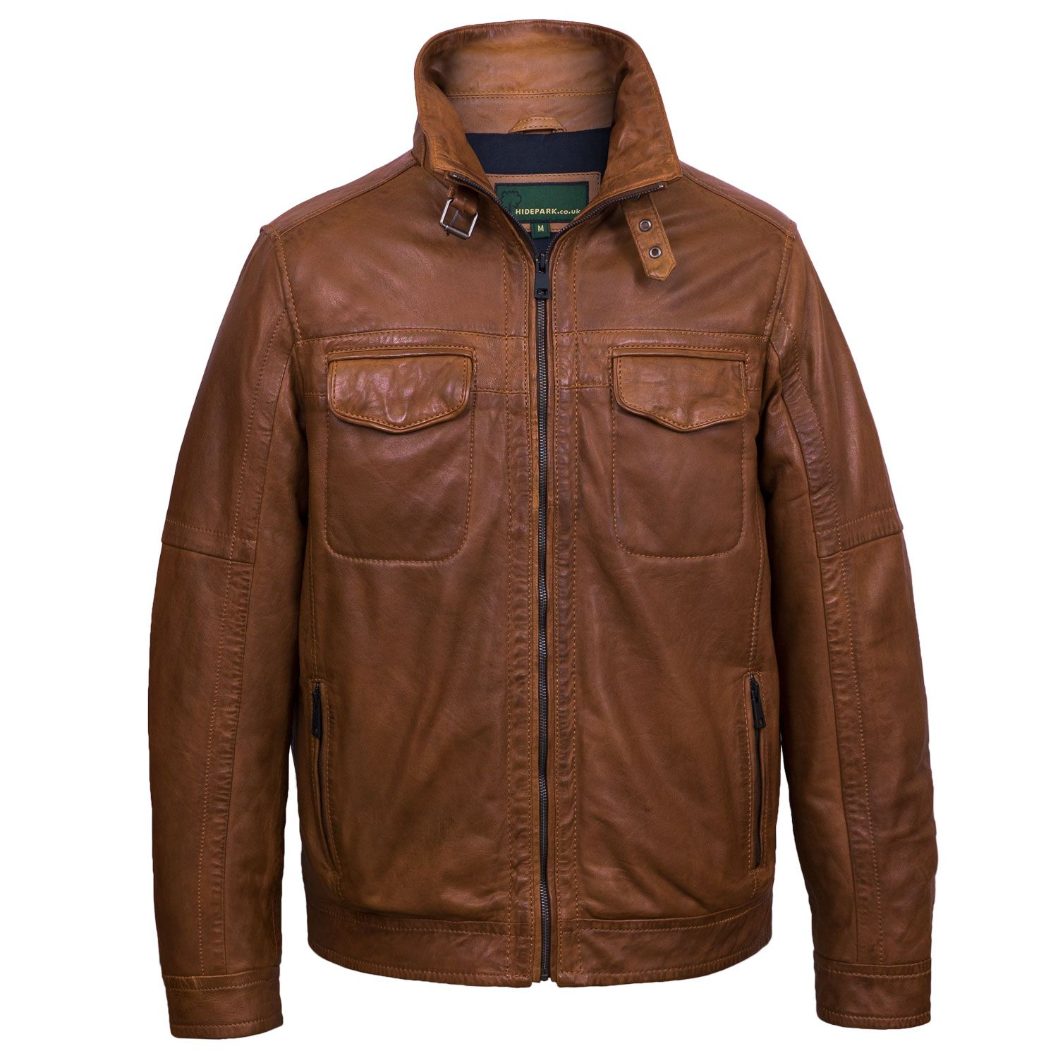 Jake Men's Tan Leather Jacket Tan leather jackets