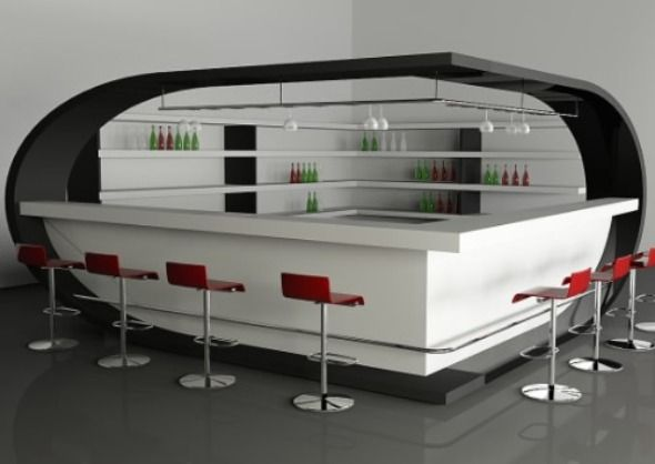 Unique Futuristic Modern Bar Counter: Bar Counter Design Ideas ...