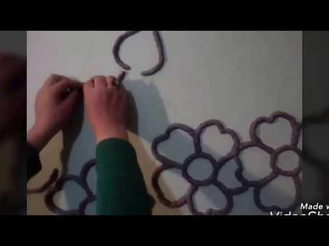 كيف تصصم رسمة علي جدران الحائط من عجينة الورق الجزء الثاني Youtube Clay Art Worksheets For Kids Art