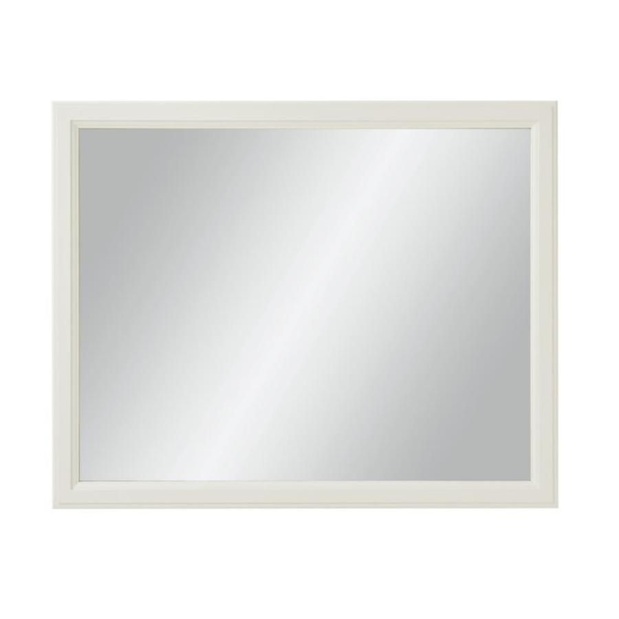 Diamond Freshfit Calhoun 42 In White Rectangular Bathroom Mirror Lowes Com Rectangular Bathroom Mirror Bathroom Mirror Lowes Bathroom Mirrors
